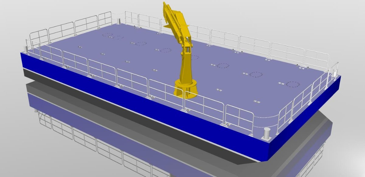 Sabrecraft Marine Aluminium Sectional Barge Deck Barge