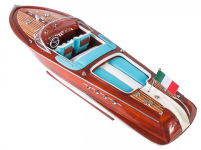 RIVA AQUARAMA HAND MADE REPLICA MODEL BOATS 70 cm