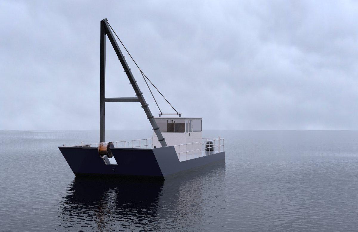 Sabrecraft Marine A Frame Work Boat Mooring Repair