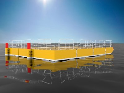 Sabrecraft Marine Spud Barge Road Transportable Aluminium Construction Barge