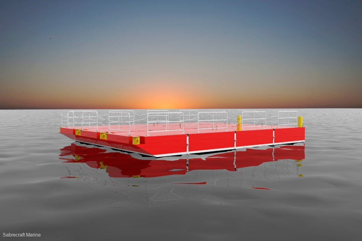 New Sabrecraft Marine Spud Barge Road Transportable Aluminium Construction Barge