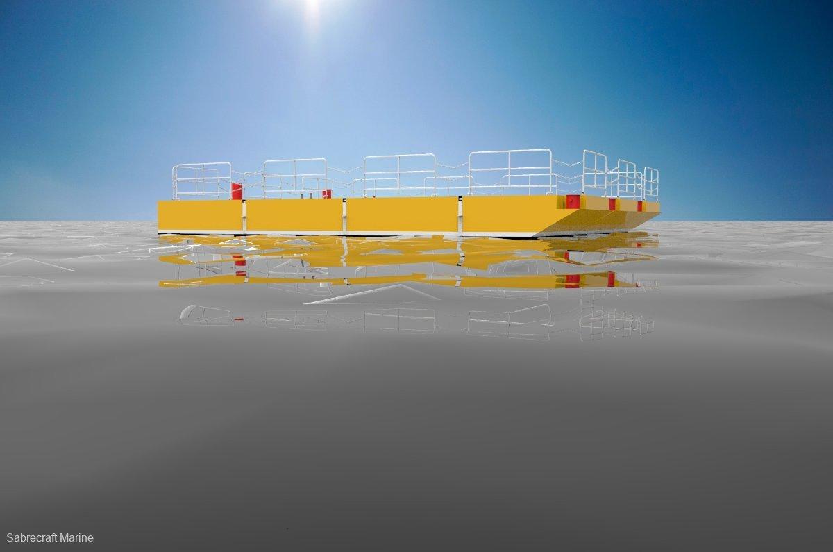 Sabrecraft Marine Spud Barge Road Transportable Aluminium Construction Barge