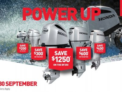 HONDA POWER UP SALE - NOW ON AT DINGHY WORLD - SAVE DOLLARS