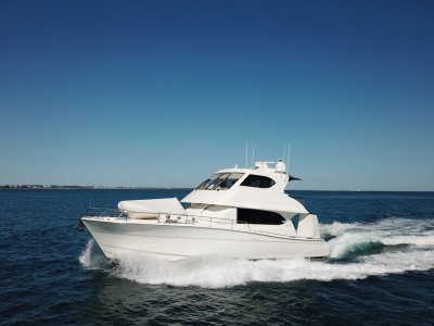 "Maritimo 52 Cruising Motor Yacht """" Dual Helm Station """""