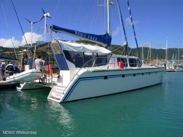Brady 15m Sail/Power Catamaran Sail / Power Open seas true Passage Maker:Strong