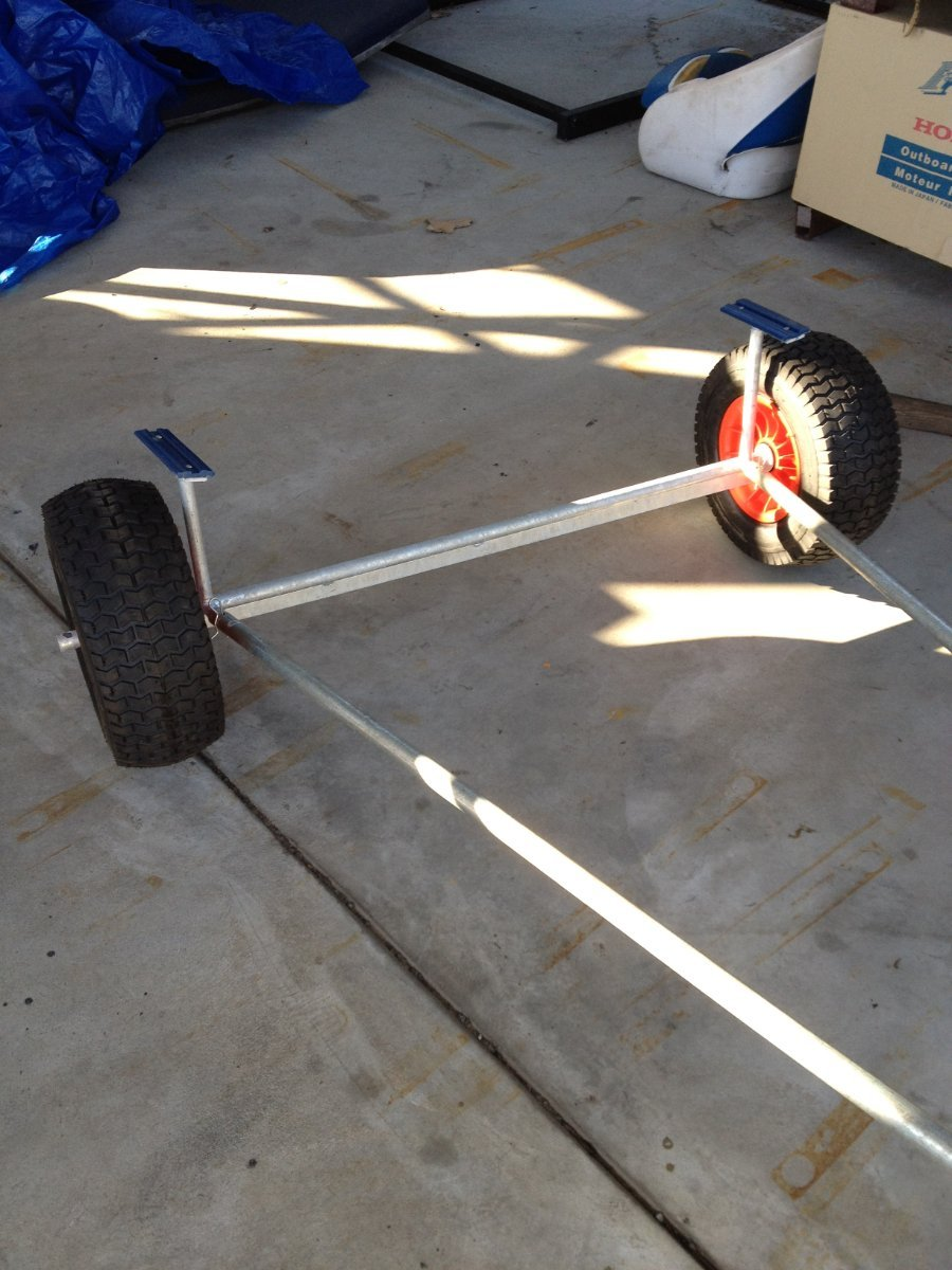 DINGHY ALLOY HAND TROLLEY - LARGE SAND WHEELS - LAUNCH AND RETRIEVE.
