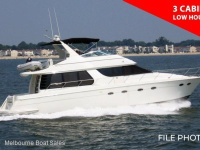 Carver 530 Voyager - 3 CABINS - VERY LOW HOURS