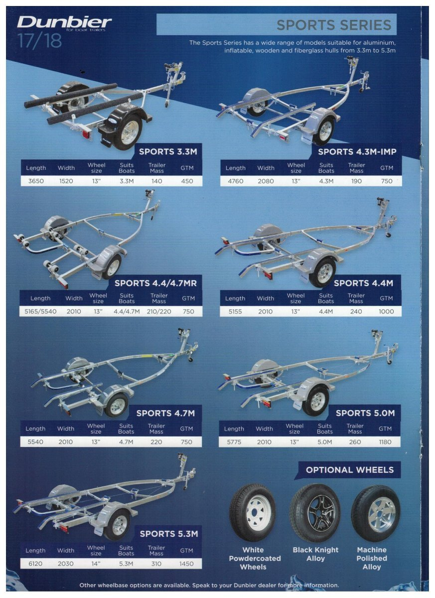 DUNBIER SPORTS SERIES TRAILERS - AVAILABLE AT DINGHY WORLD