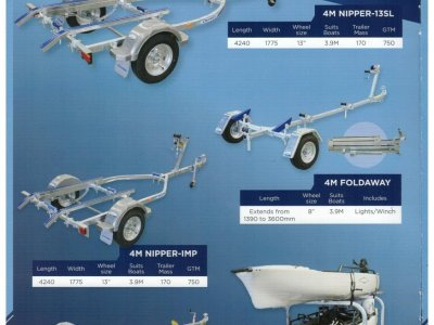 DUNBIER NIPPER SERIES TRAILERS - AVAILABLE AT DINGHY WORLD