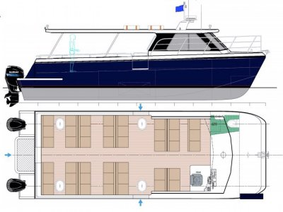 Praga - NEW BUILD - 11m 43 pax Water Taxi