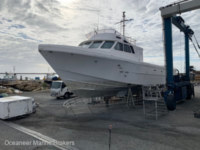 Conquest Fibreglass Cray 65ft Hull Only - Fire Damage