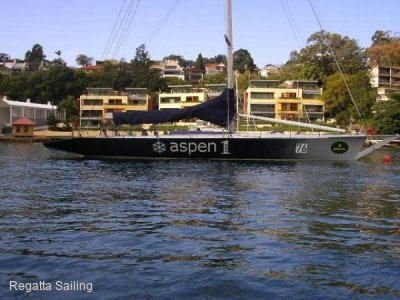 Volvo 60 Volvo 60 with bow sprit and sugar scoop