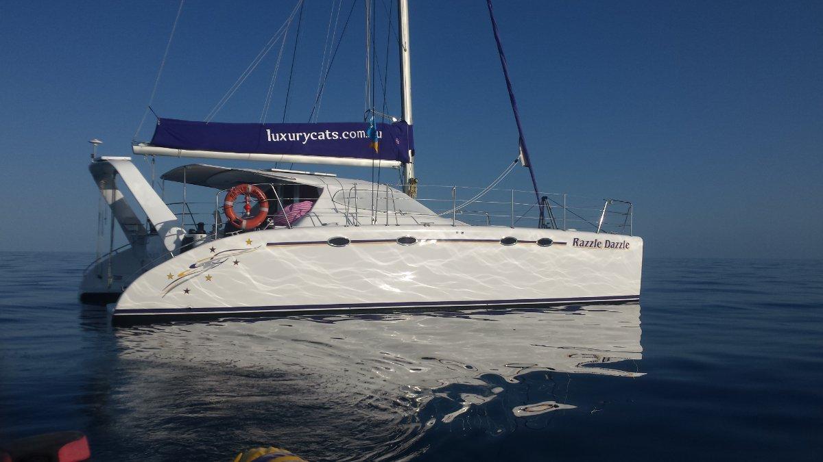 Fusion Catamarans 40:Our beautiful Razzle Dazzle