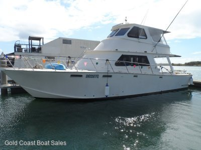 48' Gary Stewart Enclosed flybridge cruiser