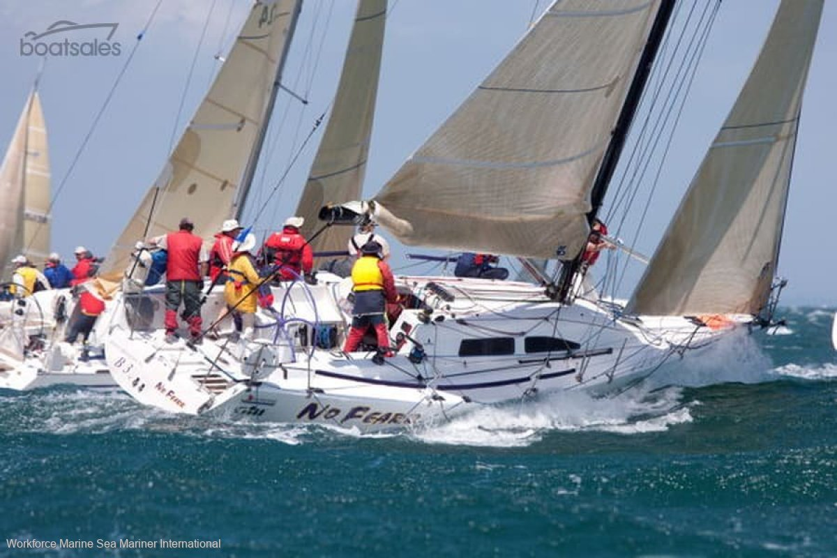 Cookson 12:No Fearr sailing in Melbourne