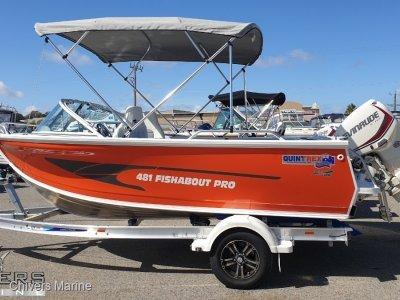 Quintrex 481 Fishabout Pro, Evinrude E-tec E75   Demo Package