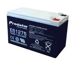 PREDATOR 12VOLT ES1275 AGM SEALED BATTERY - NON SPILL - ONLY $ 35.00 EA.