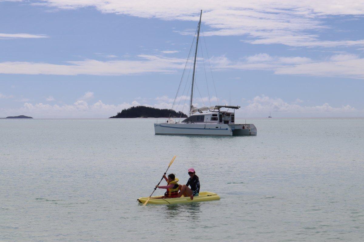 Explorer 43 3 cabin performance cruiser.:Whitehaven Beach.