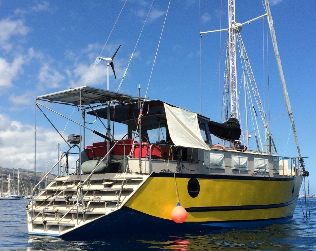 Custom Steel Cruiser Sailboat