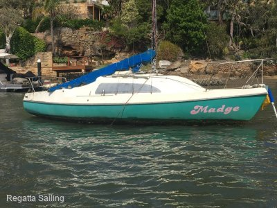 Hunter 19 yacht moor or trailer sailer fiberglass (botany Ba