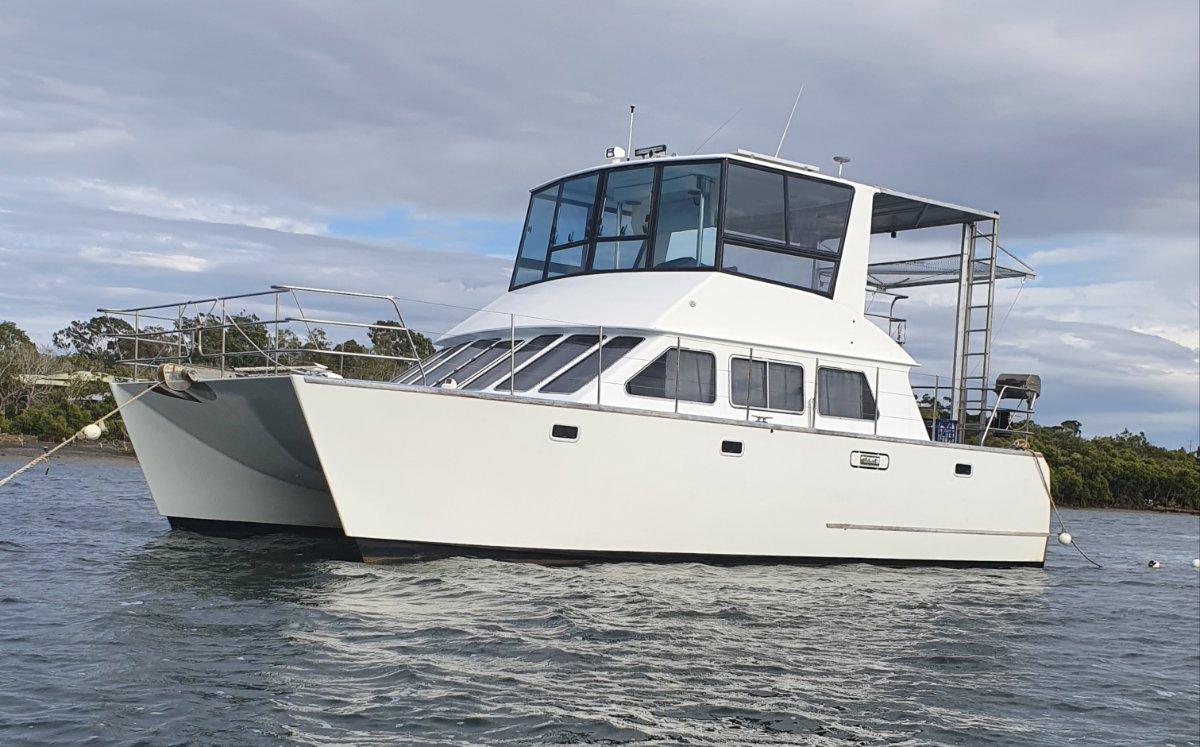 Brady 10.5m Power Catamaran Leopard