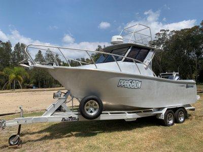 Performance Plate Boats 6.8m hardtop cuddy