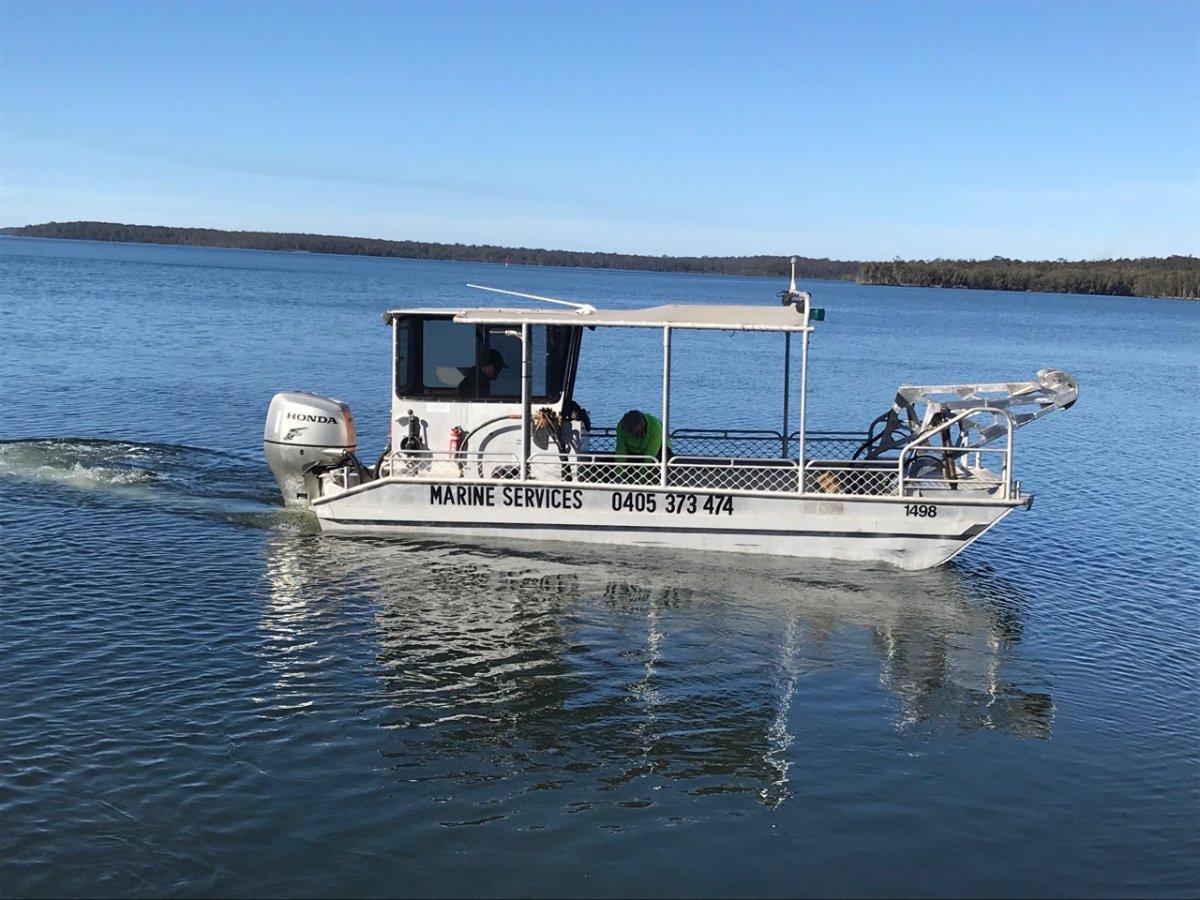6m trailer boat aluminium flat bottom punt