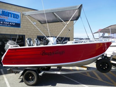 Trailcraft 465 Open Side Console RUNABOUT PLATE ALLOY SELF DRAIN DECK- Click for more info...