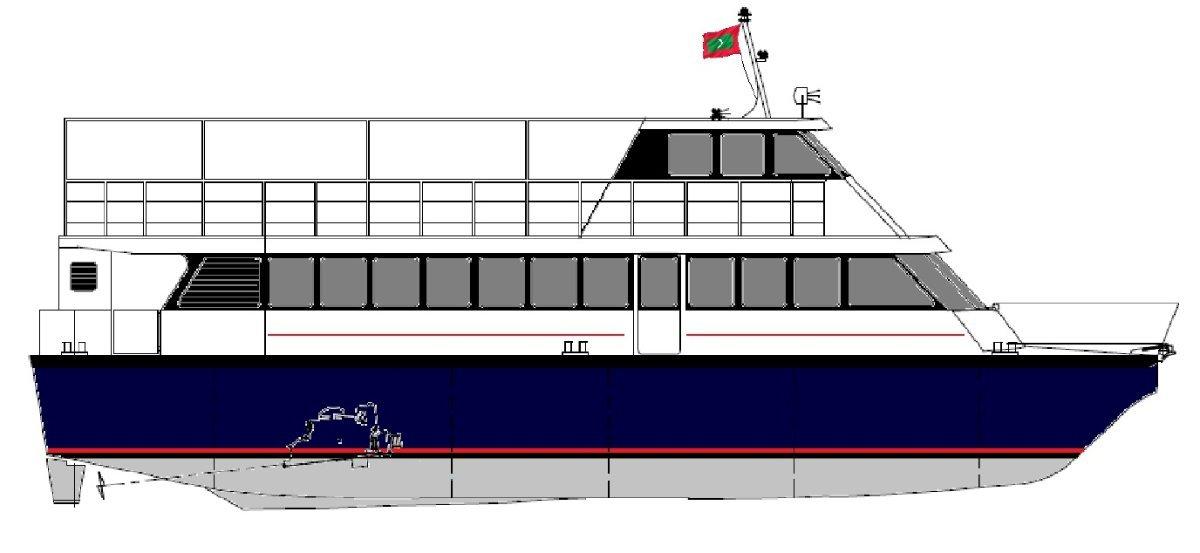 Praga 20m 150 Pax Catamaran Ferry 20m 150 Pax Catamaran Ferry