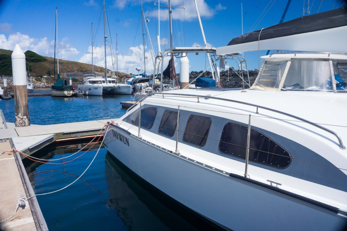Roger Simpso design partially enclosed bridge deck:Port side