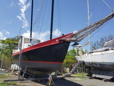 Colvin Gazelle Junk Rigged Schooner Steel hull