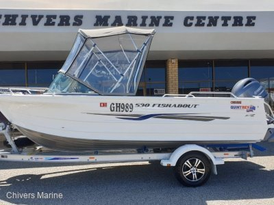 Quintrex 530 Fishabout 2018 Model, 24.5Hrs | Yamaha F90 4-Stroke