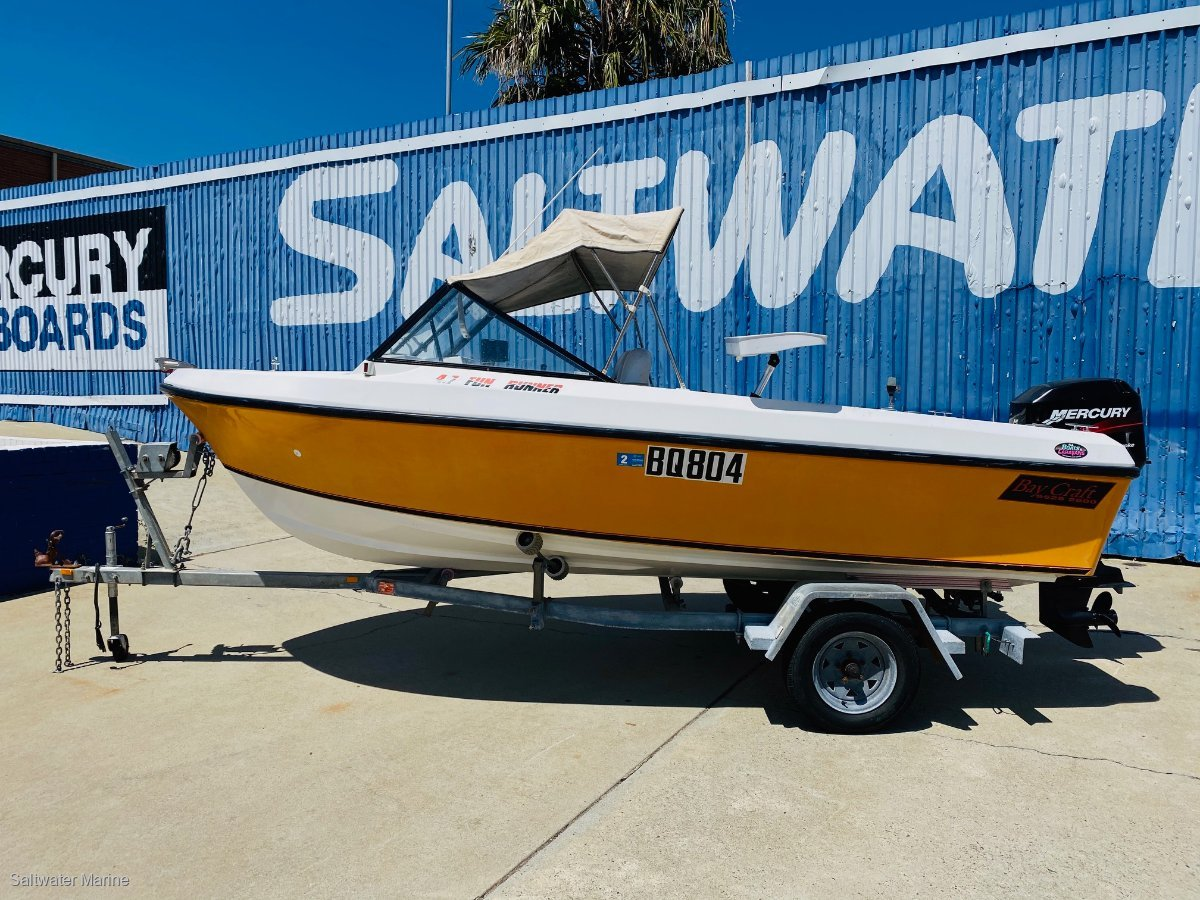 Bay Craft 4.75 Fun Runner with a Four Stroke!