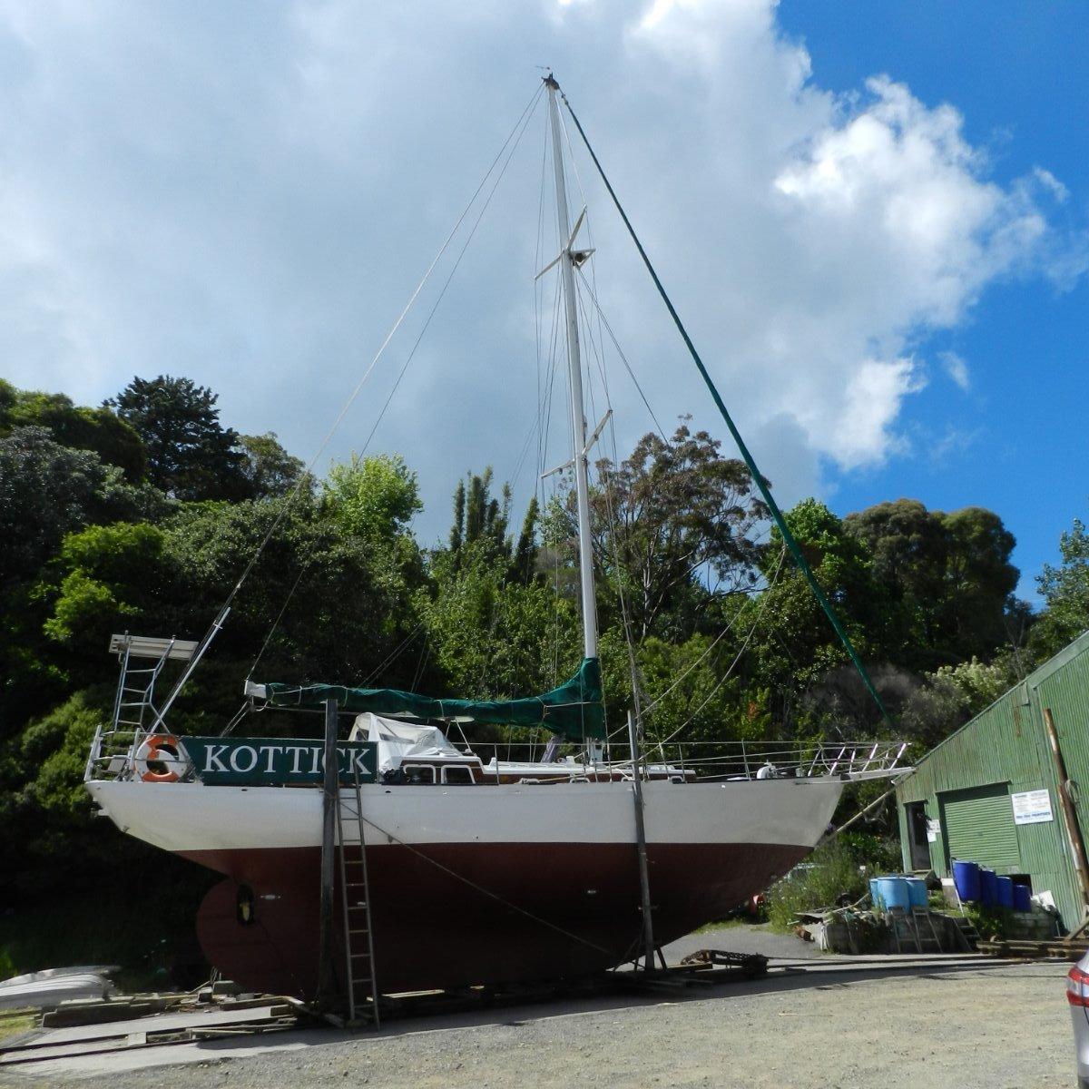 Classic steel cruising yacht