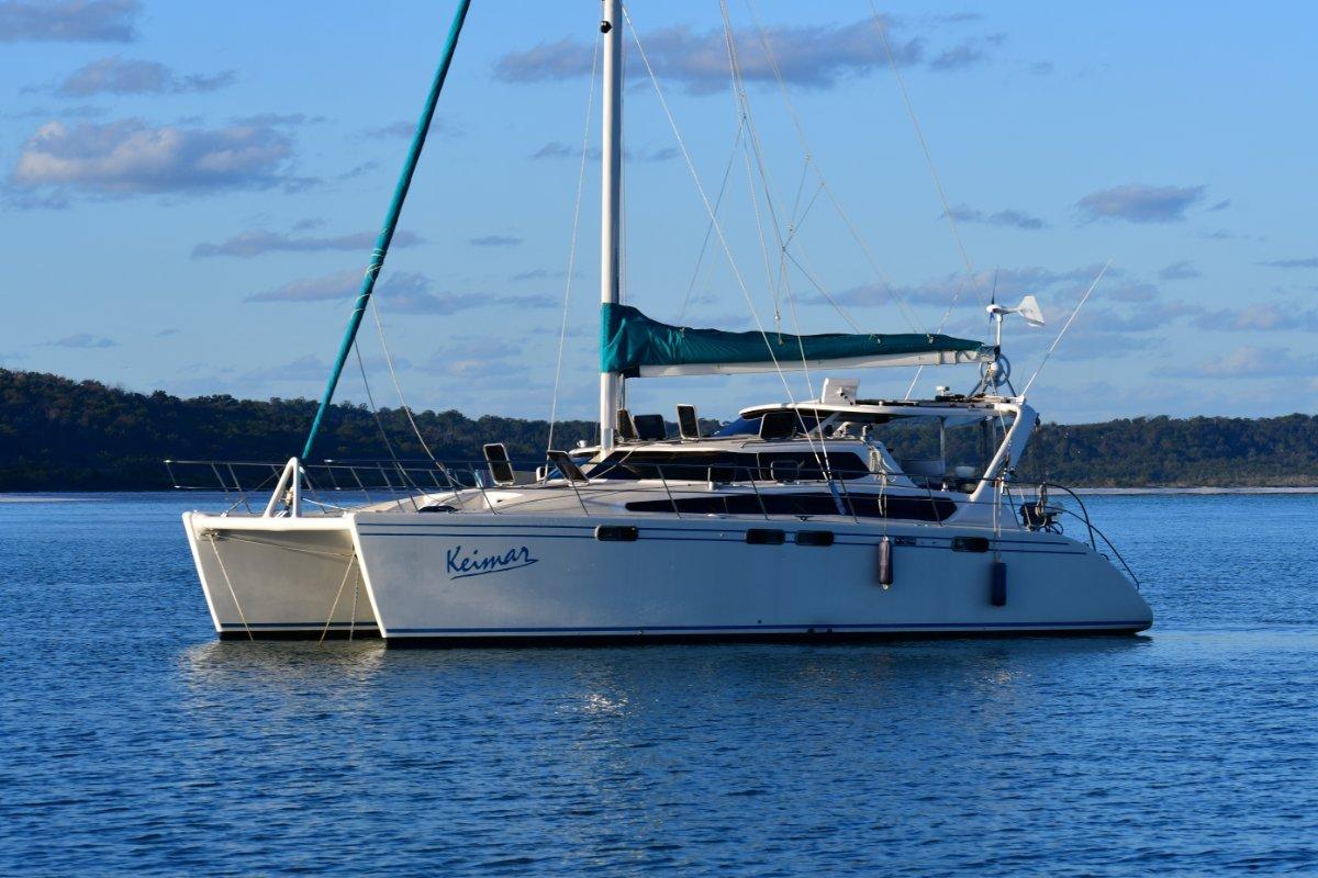 Brady 12m Catamaran Owners version live aboard blue water cruiser