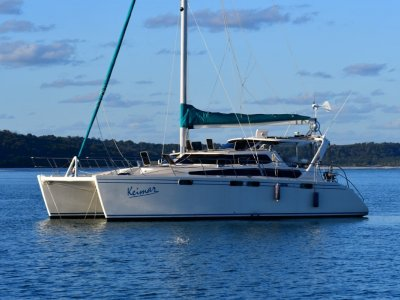 Brady 12m Catamaran Owners version live aboard blue water cruiser