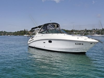 Sea Ray 280 Sundancer Bow and Stern Thusters installed, riser and manifo