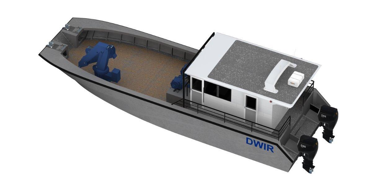 Saltwater Commercial Boats 14m Navigational Buoy Handling Vessel