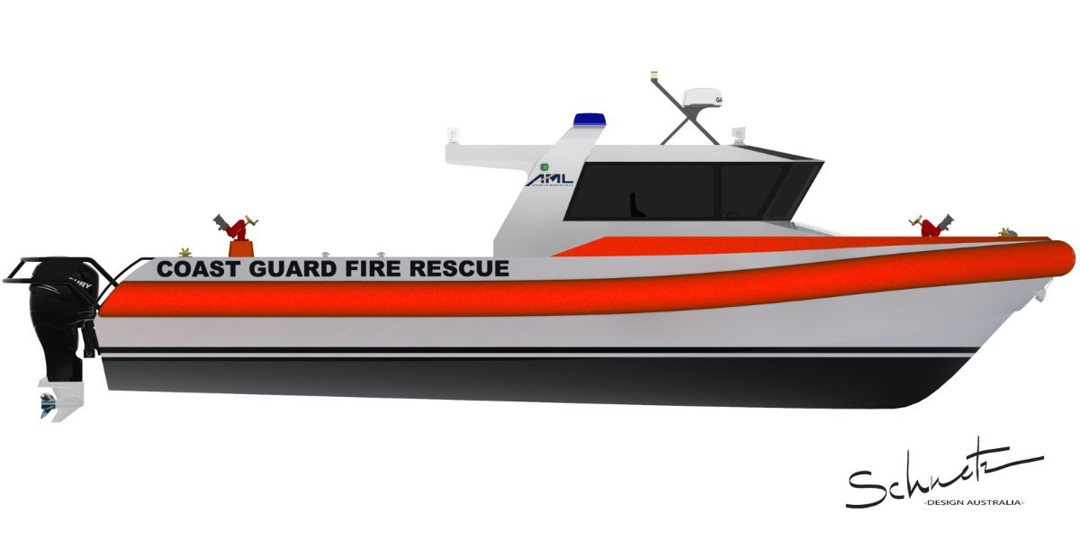Saltwater Commercial Boats 12.0 Fire Boat