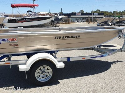 Quintrex 370 Explorer Long Shaft - Telwater Alloy Light Trailer
