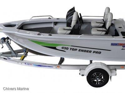 Quintrex 430 Top Ender Pro | Evinrude E-tec E40 * New Package