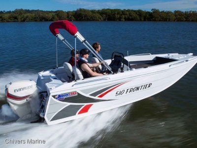 Quintrex 510 Frontier Side Console | Evinrude E75 * New Package