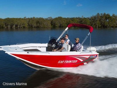 Quintrex 530 Frontier Side Console | Evinrude E75 * New Package