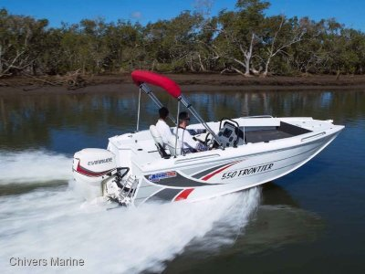 Quintrex 550 Frontier Side Console | Evinrude E90 * New Package
