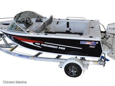 Quintrex 481 Fishabout Pro | Evinrude E-tec E50 * New Package