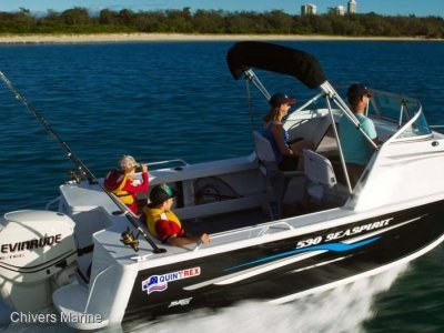 Quintrex 530 Sea Spirit | Evinrude E-tec E75 * New Package