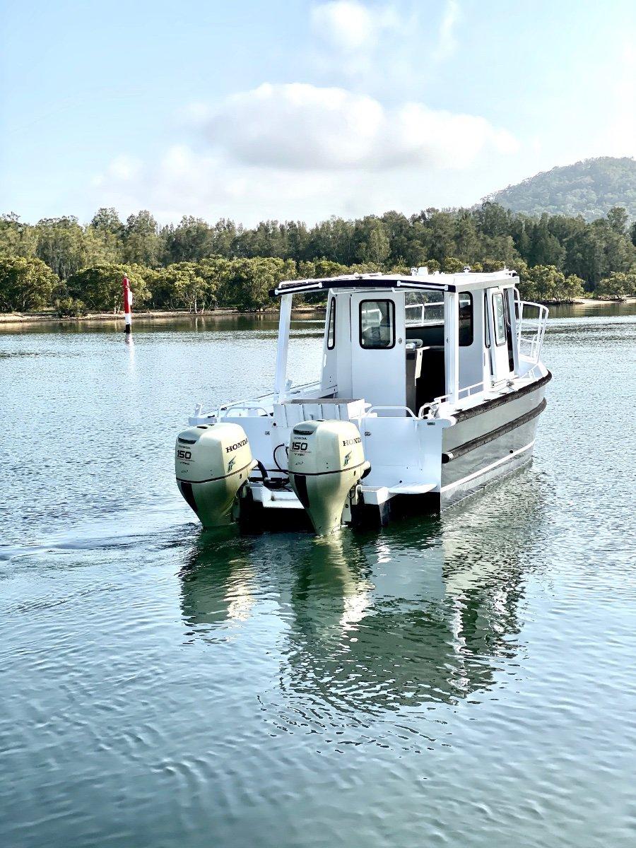 Alufarm Fishing Vessel Enclosed Cabin Hardtop:Ready to work or fish
