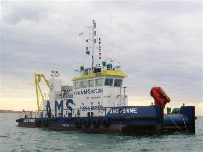 Australia Marine Services AMS Tugs and Barges 28m Shallow Draft Workboat Custom