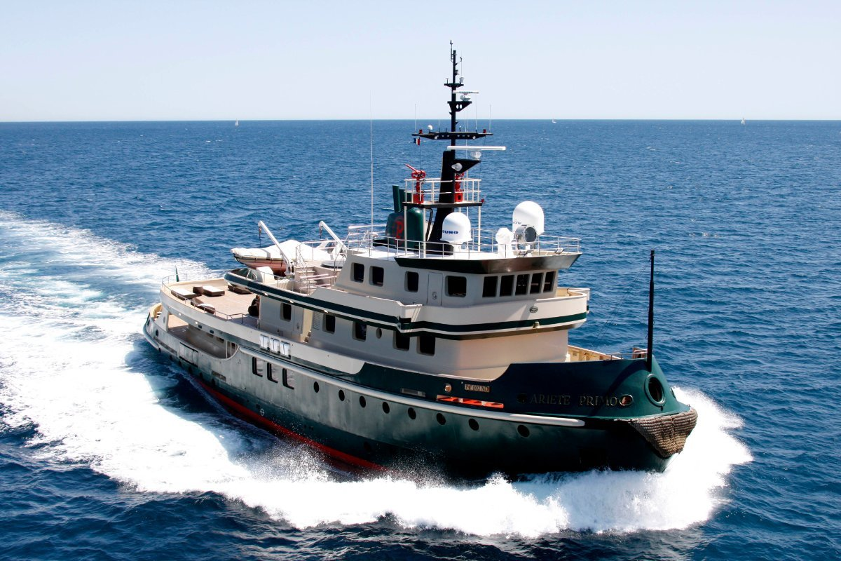 44m Ocean Going Tug converted to luxury superyacht