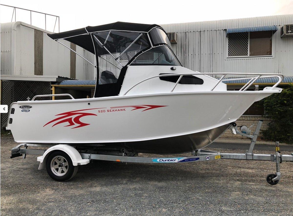 Stessl 530 Seahawk PLATE ALLOY CUDDY CABIN Yamaha 115HP $52,900.00